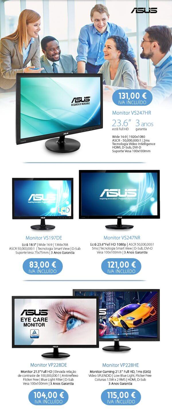 Em Julho, compre Monitores ASUS aos melhores preços!