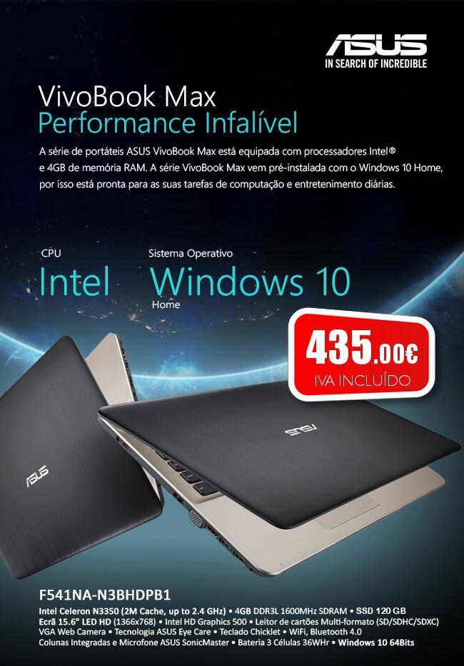 Portátil ASUS VivoBook Max F541NA por apenas 435€!