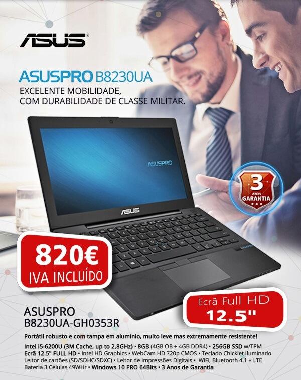 Só até 2 de Novembro, ASUSPRO B8230UA a um super preço!